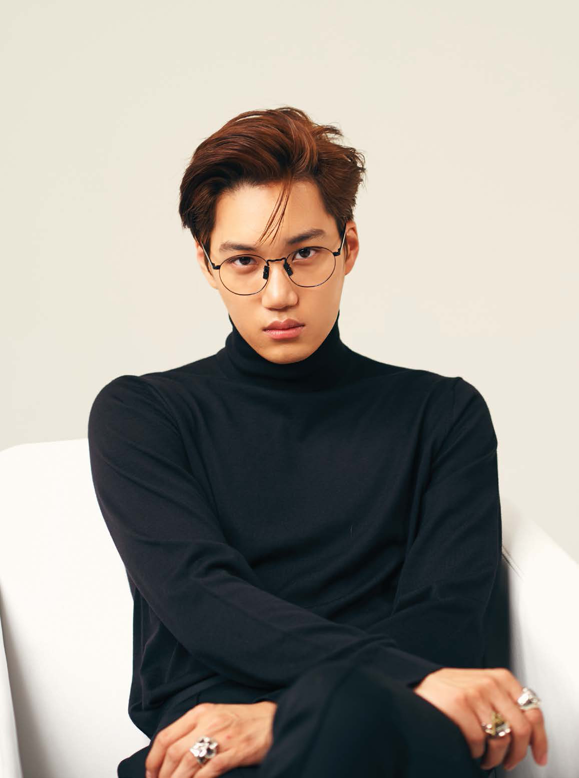 Lined Magazine - Kai of EXO